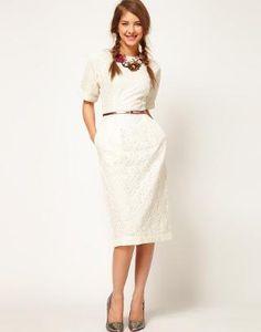 ASOS | ASOS Wiggle Dress In Lace at ASOS