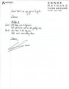 Conor Maynard's Handwritten Lyrics to part two Buttercream Squad, Mtv, Youtubers, Lyrics, Singer, Music, Musica, Musik, Singers