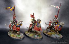 Freeguild Guard and Demigryph Knights - Dice and Brush