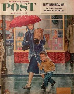 Saturday Evening Post, April, 1954. Illustration by Amos Sewell.