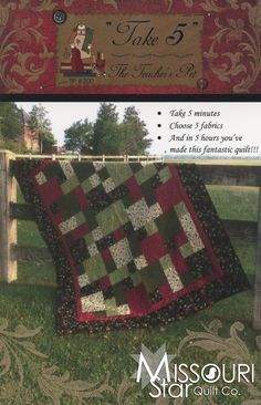 Take 5 Pattern from Missouri Star Quilt Co