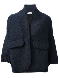 Veronique Leroy Knitted Cropped Cardi-coat - Jean Pierre Bua - Farfetch.com