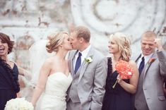A Happy Navy Blue & Coral Wedding at Fountain Square Theater in Indianapolis | Fab You Bliss