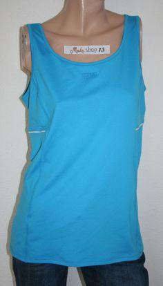 31024a593fad Esprit Sportshirt Top T- Shirt Sport Shirt Sporttop Blau Gr L XL Gr 42 NEU