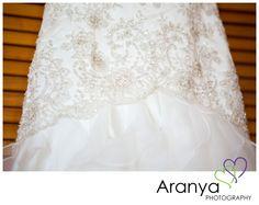 Beaded wedding dress detail shot by Kent wedding photographer, Sarah Khamsoda, of Aranya Photography at Smiths Court Hotel, Cliftonville http://www.aranyaphotography.co.uk/
