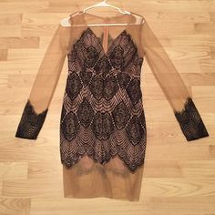 Black Lace / Sheer Dress Knock off FL&L. Beidifan brand. Size 12 in AUS, which is a USA size Large. NWT & never worn. For Love and Lemons Dresses Long Sleeve