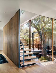Stairs Architecture, Residential Architecture, Interior Architecture, Interior Design, Homeless Housing, Houses In Austin, Architectural Section, Oak Tree, House And Home Magazine