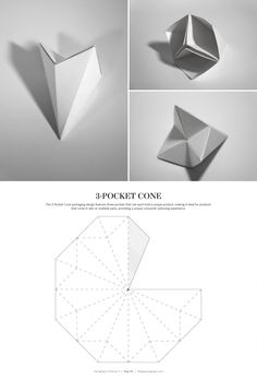 3-Pocket Cone Box – FREE resource for structural packaging design dielines