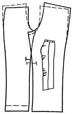 горизонтальные заломы на задней половинке брюк - Google Search
