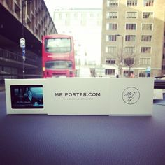 Mr Porter Mini Screens at LCM Photos of these pocket-sized wonders seemed to bring my twitter feed to a standstill. Mr Porter men like their information delivered in a sleek, modern, polished way. The mini TVs did not disappoint.