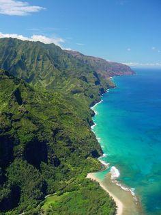 Above Ke'e Beach Looking down the Na Pali....Hawaii!!!!