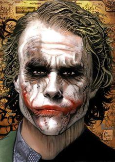 The Joker black women with red hair - Red Hair Heath Ledger Joker Quotes, Joker Heath, Joker Images, Joker Pics, Der Joker, Joker Art, Bob Kane, Joker Drawings, Jokers Wild