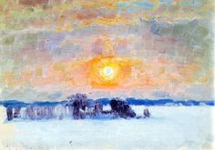 Eero Järnefelt was one of the most important figures in the golden age of Finnish art. He is best known for capturing the majestic landscapes of Koli and as a master of portraiture. Chur, Abstract Landscape, Landscape Paintings, Abstract Art, Landscapes, Happy Winter Solstice, Prinz Eugen, Russian Painting, Sky And Clouds