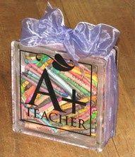 Glass Block Craft Ideas | glass block ideas crafts - | Teachers gifts