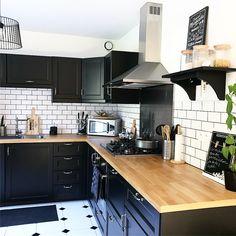 Cocinas de color negro perfectas para el otoño - Mi Casa