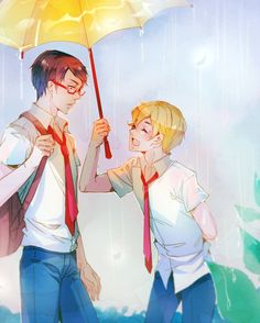 Free! ~~ Umbrella lovers :: Rei and Nagisa