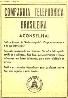 Anúncio publicado em 9 de julho de 1954 no jornal santista A Tribuna