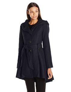 Steve Madden Women's Single Breasted Wool Coat >>> This is an Amazon Affiliate link. Read more reviews of the product by visiting the link on the image.