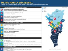 The Metro Manila shakedrill is a metro-wide synchronized drill for the preparation of the unexpected earthquake that might hit the country., Thursday, July is the first ever metro-wide Shakedrill of the Philippines. Manila, Philippines, Announcement, Infographic, Hold On, Infographics, Naruto Sad, Visual Schedules