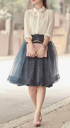 Street styles tulle skirt