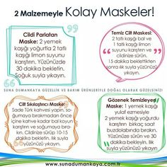 Yuz maskeleri Homemade Skin Care, Diet And Nutrition, Face Care, Health Fitness, Weight Loss, Blog, Beauty, Face Masks, Hacks