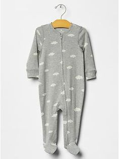 Cloud footed one-piece
