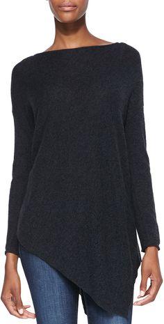 Alice + Olivia Boat-Neck Asymmetric Knit Sweater on shopstyle.com