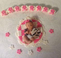 BABY SHOWER CAKE Topper edible decoration by BabyCakesByJennifer, $45.00