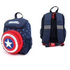 ebeee98ef2d7 Marvel Captain America Point Backpack Safety Harness Toddler Bag License   Marvel 배낭