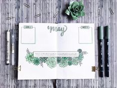 My monthly spread I didn't want to do the calendar layout again, so I tried this design I think I like the way it turned out. I just…