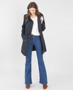 Trench coat blu marino