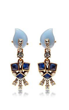 Resin flower earrings by OSCAR DE LA RENTA Available Now on Moda Operandi