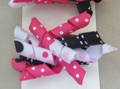 Hot Pink Black and White Pigtail Korker by IttyBittyBoutique1, $6.00
