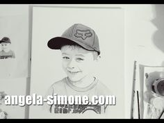 "Speed Painting Portrait ""Bryden"" by Angela Simone. angela-simone.com"