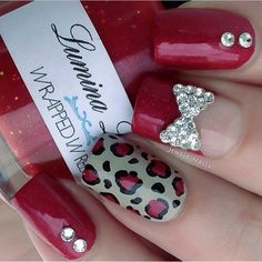 Wrapped In Red Nails | See more at http://www.nailsss.com/colorful-nail-designs/2/