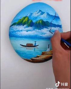 Small Canvas Paintings, Flower Painting Canvas, Diy Canvas Art, Rock Painting Patterns, Rock Painting Designs, Stone Art Painting, Mandala, Painted Rocks, Painted Wood