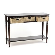 Brown Storage Basket Console Table at Kirkland's