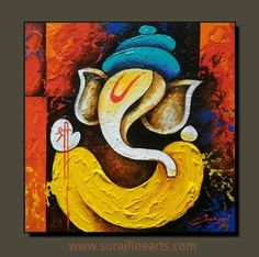 textured ganpati painting - Google Search