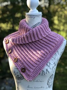 Crochet Scarves, Crochet Shawl, Knitting Patterns, Crochet Patterns, Crop Top Outfits, Neck Warmer, Cowl, Free Pattern, Diy And Crafts