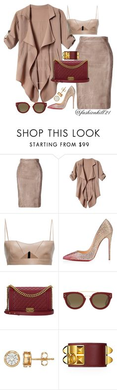 Pretty are the baddies by fashionkill21 on Polyvore featuring Salvatore Ferragamo, Christian Louboutin, Chanel and CÉLINE