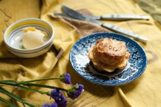 Fig and coriander mustard scones on Little Paper Swans.
