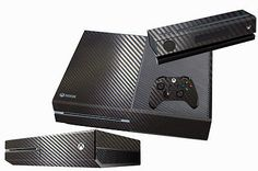 Black Carbon Fiber Skin for XBOX One Console Controller Protector Sticker Cover