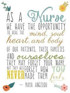 I'm a nurse...sometimes we need a reminder.