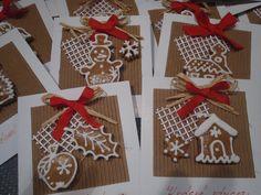 Perníkové vánoční přání Christmas 2015, Christmas Cards, Christmas Decorations, Holiday Decor, Diy And Crafts, Arts And Crafts, Paper Crafts, Homemade Cards, Advent