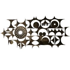 Large Abstract Metal Wall Sculpture, USA c. 1950's