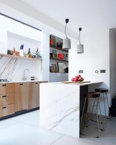 The kitchen was a collaboration with friends who founded the furniture workshop Pluck. The units were made at its studio in Brixton, south London