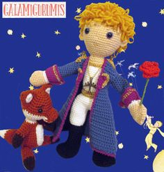 Here comes The Little Prince Amigurumi, the magic personage of Antoine de Saint Exupery. In this pattern you will find stepwise how to do it, dressed in his spacesuit and carrying his flower. This pattern It was designed in spanish by Gala Rebés and was