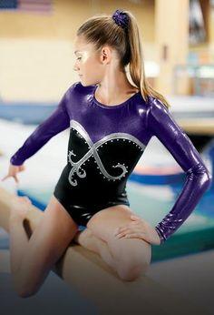 Conquer the beam in the latest gymnastics leotards. All About Gymnastics c2adbfd42e0