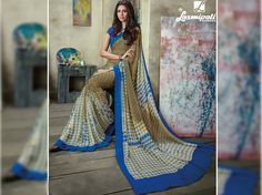 Explore this gorgeous camel brown georgette digital floral printed sarees along with unstitched dark blue blouse from Laxmipati Saree. #Catalogues - #SONPARI Price - Rs.1069.00 Visit for more designs@ www.laxmipati.com #ReadyToWear #OccasionWear #Ethnicwear #FestivalSarees #RakshaBandhan #Fashion #Fashionista #Couture #SONPARI0816 #LaxmipatiSaree Laxmipati Sarees, Printed Sarees, Buy Prints, Occasion Wear, Blue Blouse, Bridal Collection, Party Wear, Camel, Digital Prints