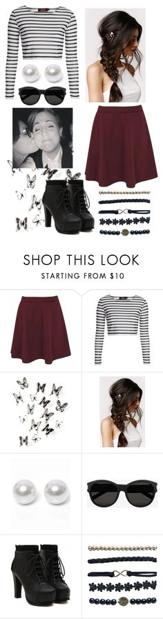 """""""with Hannah Hart x"""" by audrey-panda ❤ liked on Polyvore featuring Boohoo, Motel, Umbra, With Love From CA, Nouv-Elle, Yves Saint Laurent, Grace and Wet Seal"""